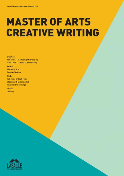 creative writing postgraduate courses