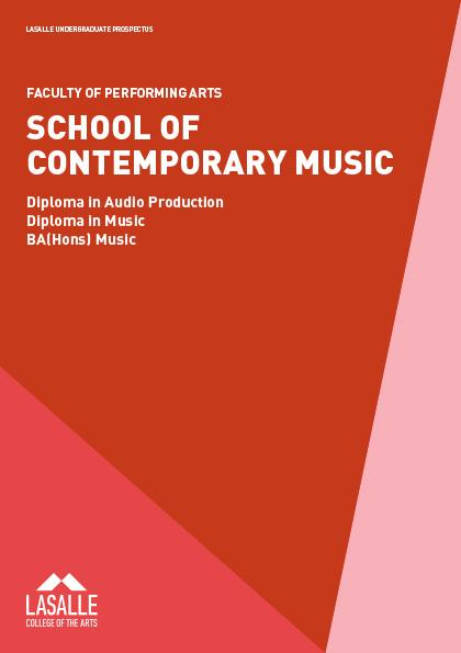 BA(Hons) in Music | LASALLE College of the Arts