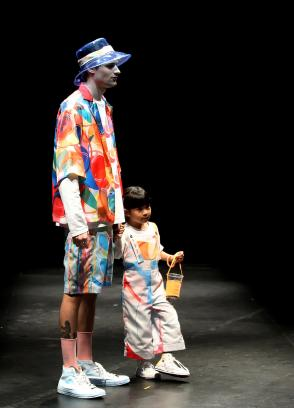 Men's and children's fashion wear from Ng Jia Min's collection titled BEATIFIC